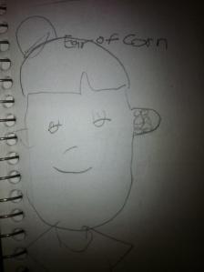 Riley's sketch of an Ear of Corn.